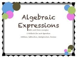 best 25 example of algebraic expression ideas on pinterest