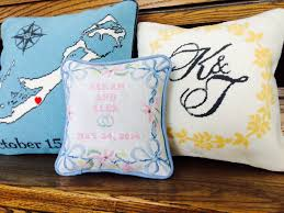 wedding pillows wedding needlepoint pillow needlepoint kits and canvas designs