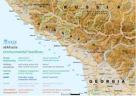 Detailed Map Of Germany by Detailed Topographical And Political Map Of Abkhazia Abkhazia