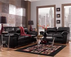 Faux Leather Living Room Set Commando Black Living Room Set Signature Design By Ashley
