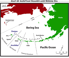 map of aleutian islands map of aleutians