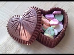 chocolate heart box edible heart shaped box