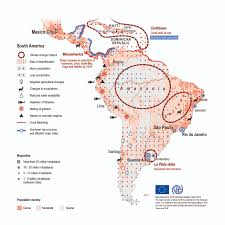 Regions Of South America Map by Maps Environmental Migration Portal
