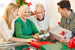 senior citizens gifts senior citizens with gifts royalty free stock image image 12937436