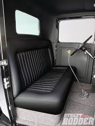 Classic Ford Truck Seats - black leather bench seat for truck bench decoration