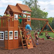 Costco Playground Outdoor U0026 Garden Design Chic Cedar Summit Playset Made Of Wood