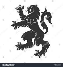 tattoo design lion black roaring lion heraldry tattoo design stock vector 346298042