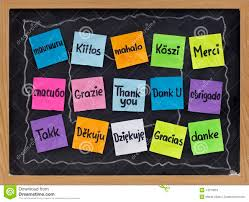 thanksgiving chalkboard art thank you in different languages stock photos image 14273063