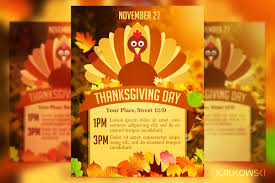 thanksgiving day flyer flyer templates creative market