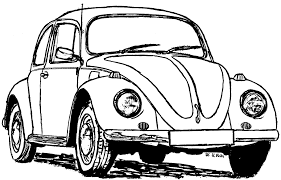 volkswagen bug drawing vw beetle coloring page