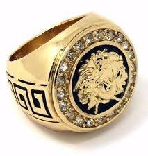 men gold ring medusa ring ebay