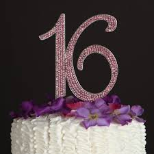 16 cake topper buy 16th birthday cake topper pink bling sweet 16 cake