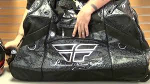 fox motocross gear bags fly racing grande wheeled gear bag review youtube