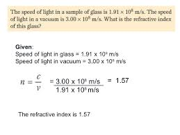 what is the speed of light refraction