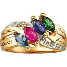 personalized birthstone rings keepsake girl s oval class ring walmart