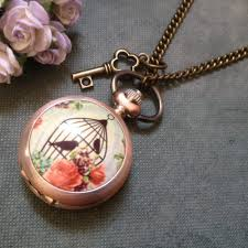 necklace watch vintage images Antique rose alloy vintage watch necklace i love vintage jpg