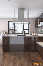 how to make kitchen cabinets high gloss high gloss uv lacquer kitchen cabinet brown kitchens