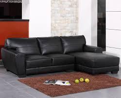 Modern Black Sofas Black Bonded Leather Sectional Sofa Tos Bvt B2165