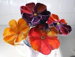 Flowers For Crafts - filth wizardry kitchen paper and baby wipe kanzashi flowers