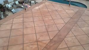 faux tile finish desert crete exterior flooring system
