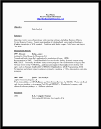 Resume Sample Data Analyst by Data Analyst Resume Sample Free Resume Templates Data Analyst