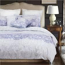 3pcs paisley duvet cover bedding set purple gray grey pattern