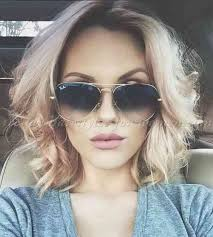 collarbone length wavy hair upscale design messy shoulder length hairstyles simple stylish