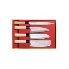 coffret couteau de cuisine coffret 4 couteaux japonais jaku nakiri san achat vente