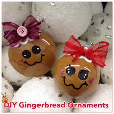diy gingerbread ornament pour paint inside the clear