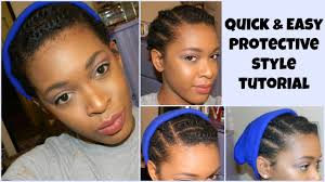 Protective Styles For Short Transitioning Hair - protective style tutorial for short 4c hair youtube