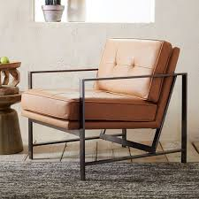 Tan Leather Accent Chair Tan Leather Accent Chair Monumental Chairs Living Room Chairs