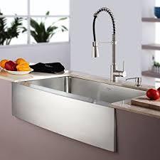amazon soap dispenser kitchen sink kraus khf200 30 kpf1612 ksd30ss 30 farmhouse single bowl stainless