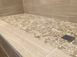 Cool Bathroom Tile Ideas Colors Best 25 Stone Shower Floor Ideas On Pinterest River Stone