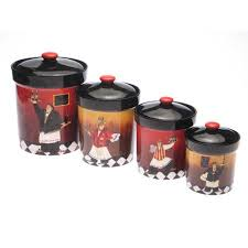 kitchen canister sets walmart certified international bistro 4 kitchen canister set