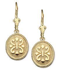 14k gold earrings 14k gold earrings oval etruscan earrings jewelry watches
