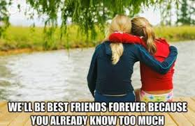 Friends Forever Meme - 22 meme internet we ll be best friends forever because you already
