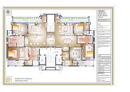 5 room floor plan 4 bhk apartments in zirakpur exotic group