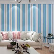 Schlafzimmer In Blau Beige Online Shop Top Qualität Stoff Wandtapete Modernen Gestreiften