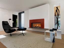 interesting dark metal fireplace using white contemporary