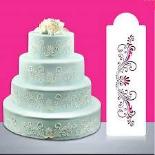 4pcs set diy snow heart flower pattern cake stencil fondant