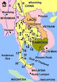 map of thailand thailand maps highways railways east southern roads