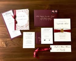 custom designed wedding invitations earnest bee calligraphy design