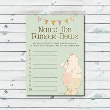 famous bears name game name ten famous bears game baby