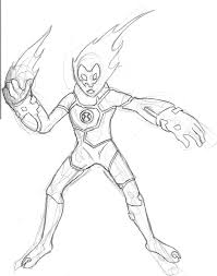 ben 10 heatblast coloring pages more info