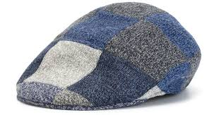 Patchwork Cap - kiton patchwork cap in blue for lyst