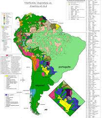 Columbia South America Map South America Mapa Lingüístico Linguistic Map