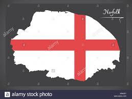 Norfolk County Wall Map Framed Norfolk County Flag England Uk Stock Photos U0026 Norfolk County Flag