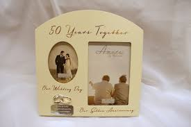 golden wedding anniversary gifts personalised 50th anniversary photo frame golden wedding