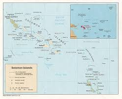 Map Of Pacific Islands Solomon Islands Maps Perry Castañeda Map Collection Ut Library