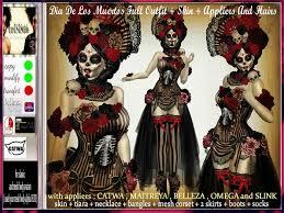 Dia De Los Muertos Costumes Second Life Marketplace Irrisistible V2 Dia De Los Muertos